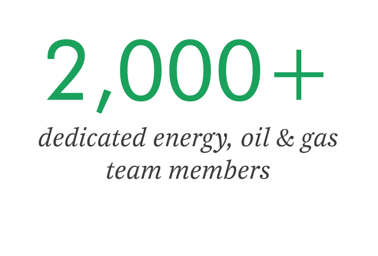 850+ dedicated energy, oil, and gas engineers and facility managers